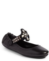 Tory Burch Minnie Embellished Convertible Strap Ballet Flat