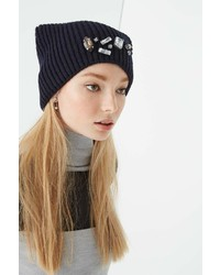Rebecca Minkoff Amy Knit Hat With Embellishts