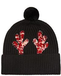 Markus Lupfer Embellished Merino Wool Beanie