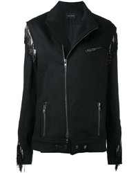Baja East Embellished Biker Jacket