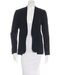 Diane von Furstenberg Embellished Open Front Blazer