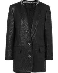 Alexander Wang Med Cotton Blend Tweed Blazer