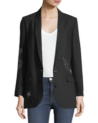 Viva bis two button embellished blazer medium 4991404