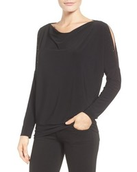 Chaus Embellished Split Sleeve Top