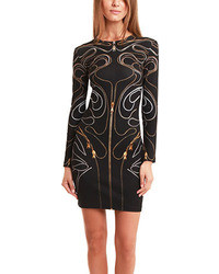 Black Embellished Bodycon Dress