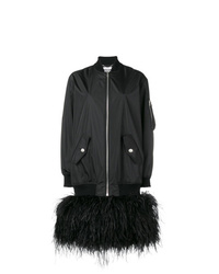 Moschino Feather Embellished Oversized Bomber