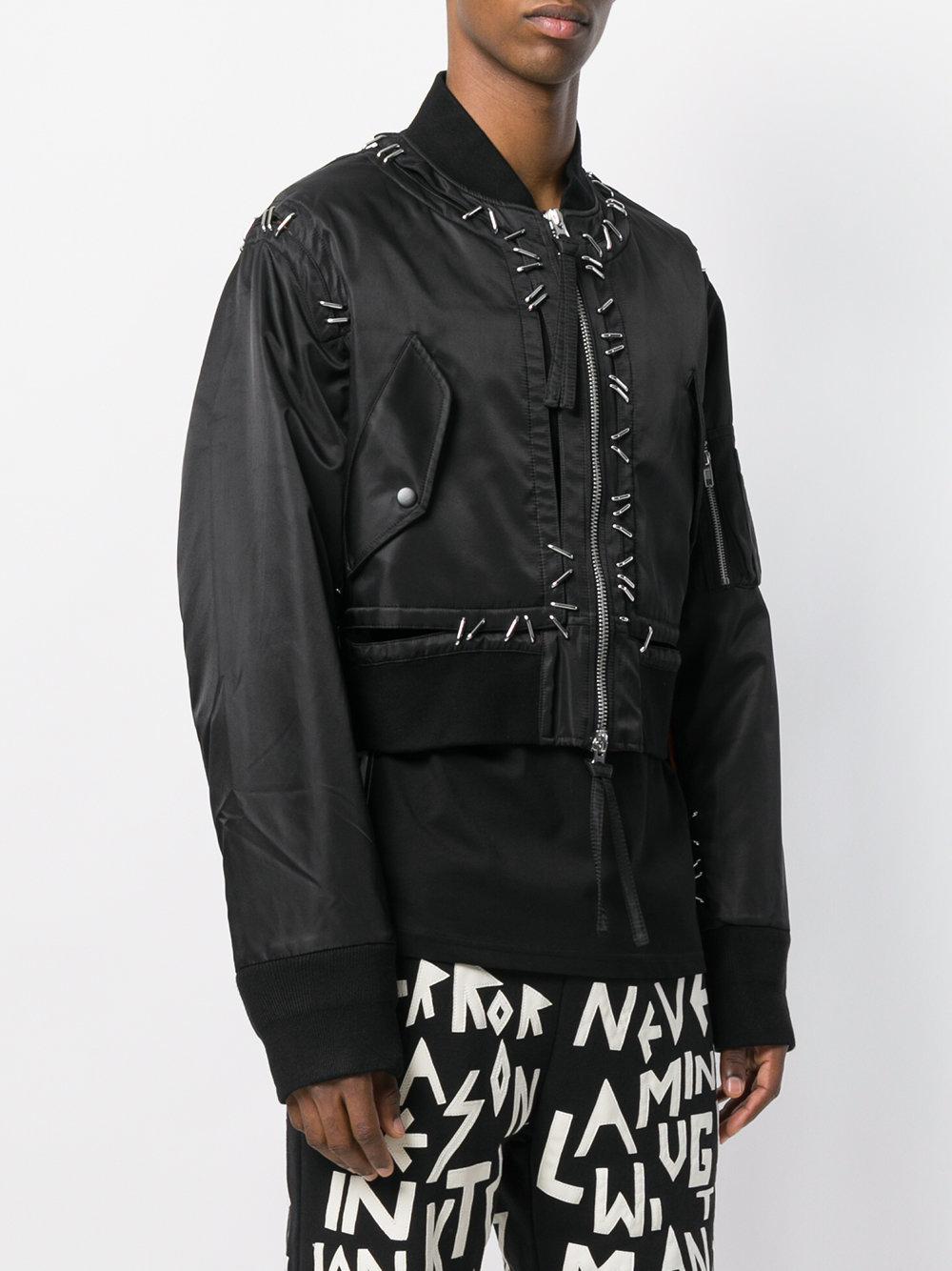 Metal Pin Bomber Jacket