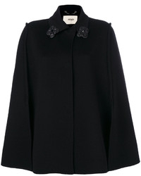 Fendi Flower Embellished Cape