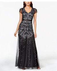 Adrianna Papell Cap Sleeve Embellished Gown