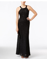 Adrianna Papell Embellished Chiffon Evening Gown