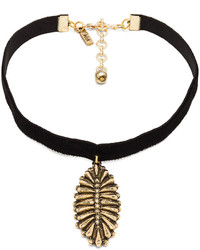 Vanessa Mooney The Black Velvet Western Charm Choker in Black