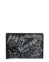 Graffiti embellished lambskin pouch medium 8680741