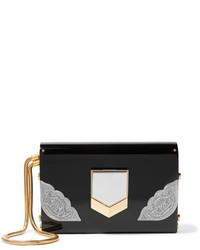 Lockett small embellished acrylic clutch black medium 828970