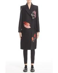 Alexander McQueen Vanity Obsession Embellished Silk Blend Coat