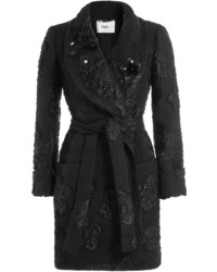 Fendi Embellished Cloqu Coat