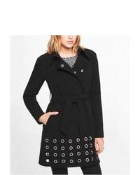 Express Grommet Hem Coat Black Large