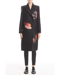 Vanity obsession embellished silk blend coat medium 757414