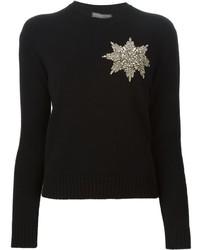 Alexander McQueen Embellished Star Sweater
