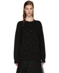 Marc Jacobs Black Embellished Sweater