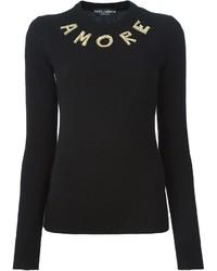 Dolce & Gabbana Amore Detailing Sweater
