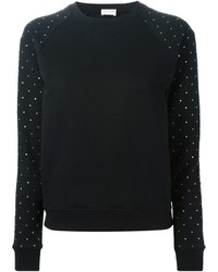 Saint laurent crystal embellished sweater medium 373099