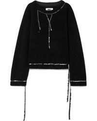 MM6 MAISON MARGIELA Sequined Wool Blend Boucl Sweater