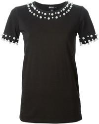 DKNY Pearl Embellished T Shirt