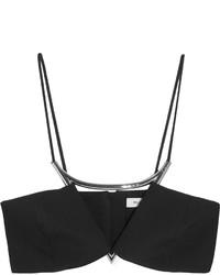 Thierry Mugler Mugler Embellished Crepe Bra Top Black