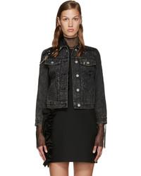 Marc Jacobs Black Embellished Denim Jacket