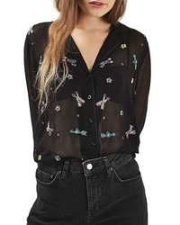 Topshop Arrow Embellished Pj Shirt