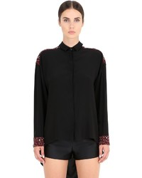 Bead embellished silk shirt medium 1102258