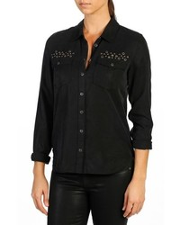 Mya grommet stud embellished shirt medium 1102255