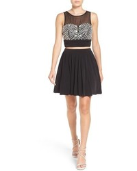 Embellished two piece skater dress medium 801673