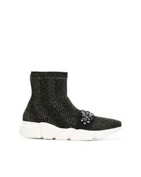 Twin-Set Sock Sneaker Boots
