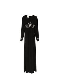 Gucci Black Star Embellished Maxi Dress
