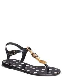 Dolce & Gabbana Dolcegabbana Embellished Jelly Sandal