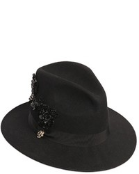 Black Embellished Hat