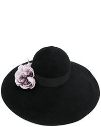 Gucci Floral Embellished Wide Brim Hat