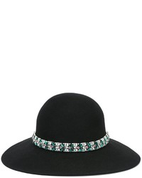 Lanvin Embellished Wide Brimmed Hat