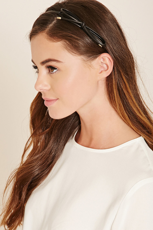 forever 21 faux leather bow headband where to buy how to wear