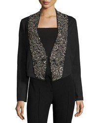 Embellished lapel ponte jacket medium 713747