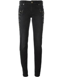Versace Jeans Stone Embellished Cropped Jeans