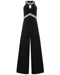 Dorothy Perkins Quiz Black Diamante Jumpsuit