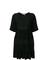 See by Chloe See By Chlo Lace Embellished Short Sleeved Dress