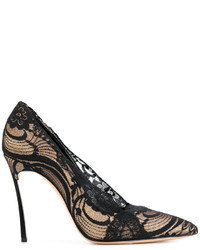 Casadei Lace Embellished Stiletto Pumps