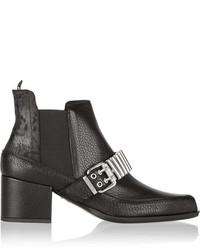 MCQ Alexander Ueen Embellished Textured Leather Chelsea Boots Alexander Ueen