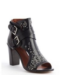Rebecca Minkoff Black Leather Spike Studded Salma Booties