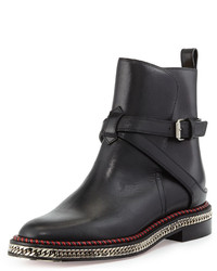 Christian Louboutin Chain Midsole Red Sole Ankle Boot