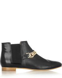 Tod's Chain Trimmed Leather Chelsea Boots