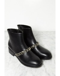 Forever 21 Chained Faux Leather Booties